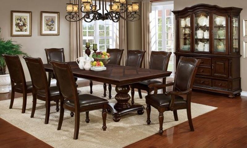 Furniture Of America Cm3350t Alpena Formal Dining Room Set Dallas Designer Furniture
