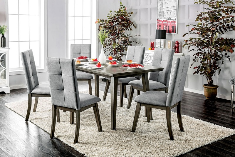 Abelone Dining Room Set in Gray