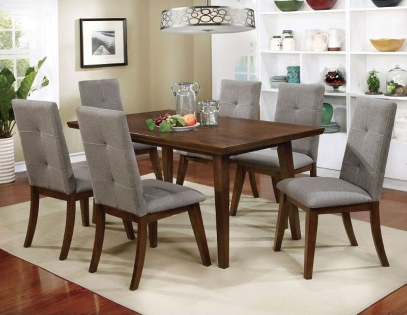 Abelone Dining Room Set In Walnut