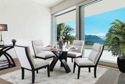 Jasmin Glass Top Dining Room Set