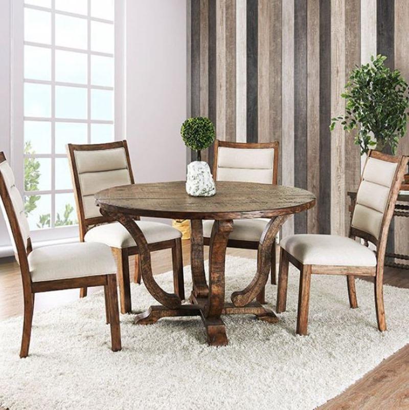 Isabelle Formal Dining Room Set in Antique Oak