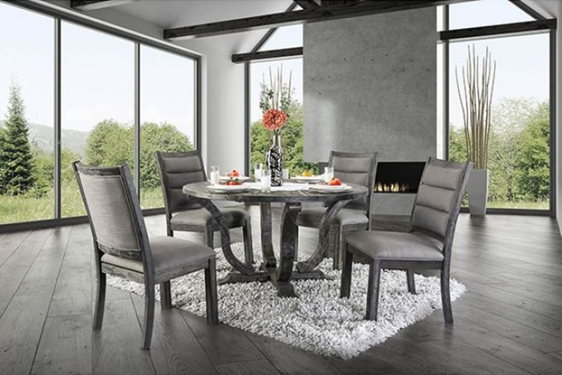 Furniture Of America Cm3395gy Rt Isabelle Formal Dining