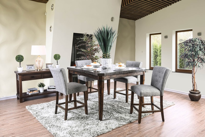 Schoten Counter Height Dining Room Set with Gray Chairs