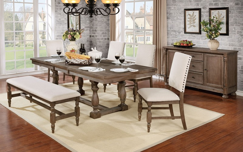 Roeselare Dining Room Set with Bench
