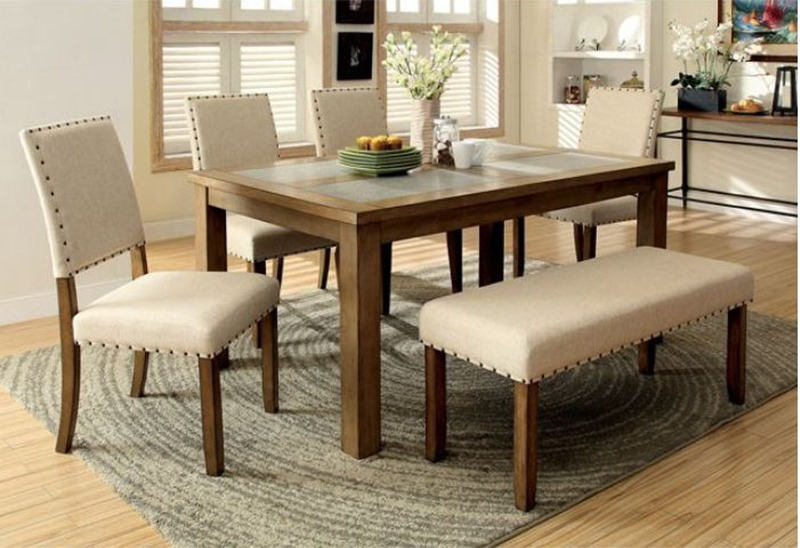 Melston Dining Room Set with Bench