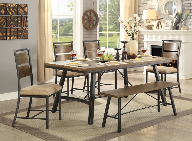 Marybeth Dining Room Set with Bench