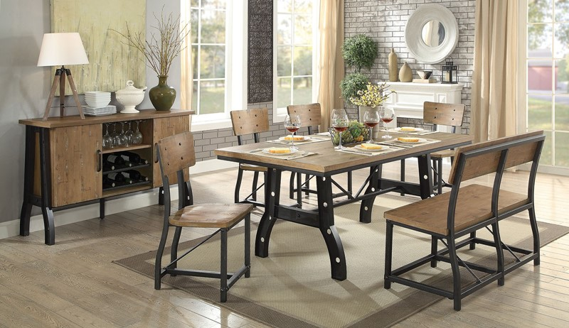Kirstin Dining Room Set with Bench