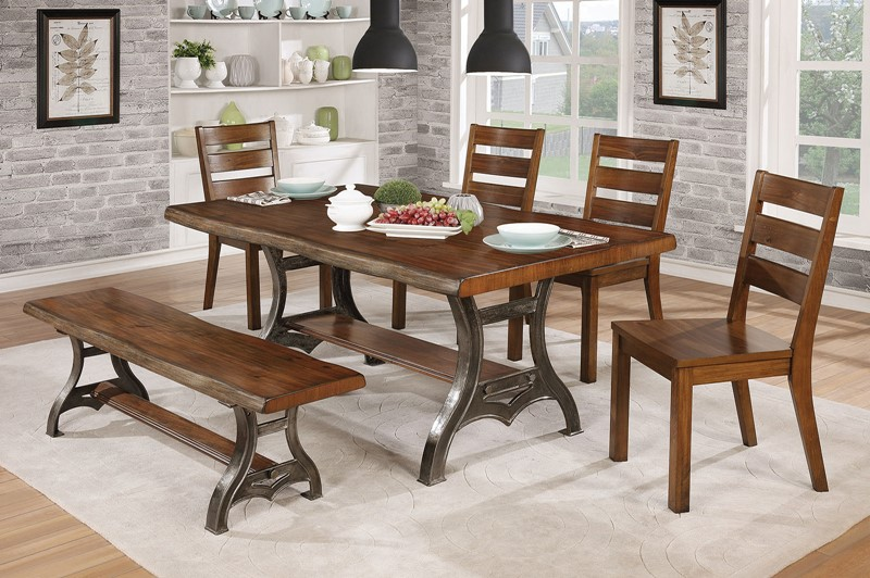 Leann Dining Room Set with Bench
