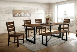 Dulce Dining Room Set with Bench