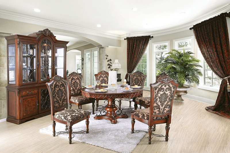 Lucie Formal Dining Room Set with Round Table