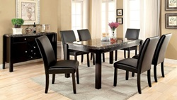 Gladstone I Dining Room Set with Black Marble Top