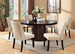 Havana Dining Room Set with Beige Chairs