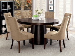 Havana Dining Room Set with Light Brown Chairs