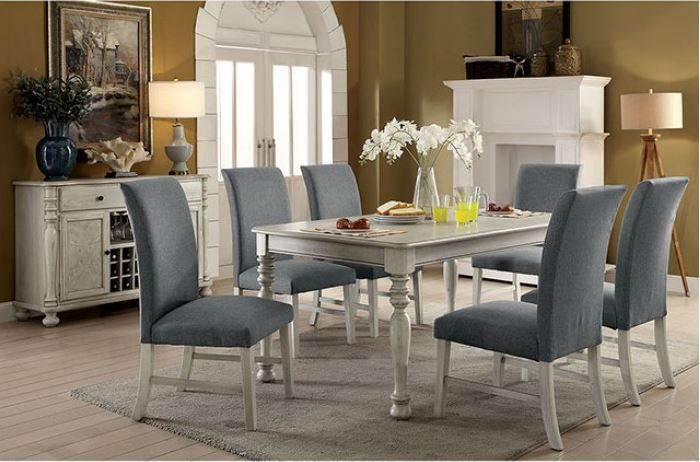 Siobhan II Formal Dining Room Set in Antique White
