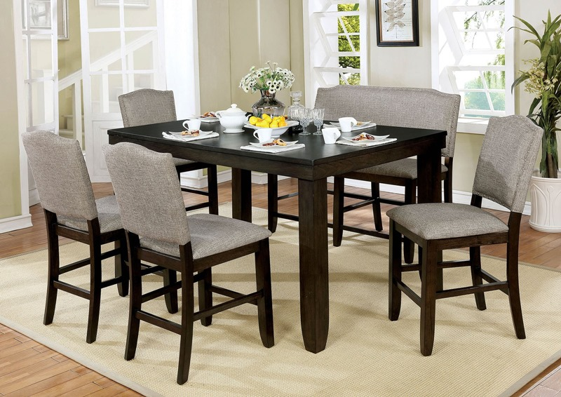 Teagan Counter Height Dining Room Set with Bench