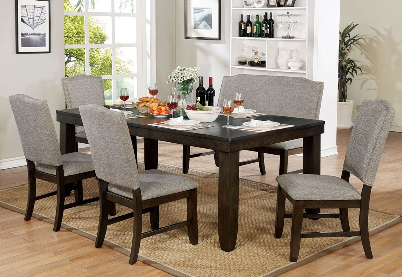 Teagan Formal Dining Room Set with Bench