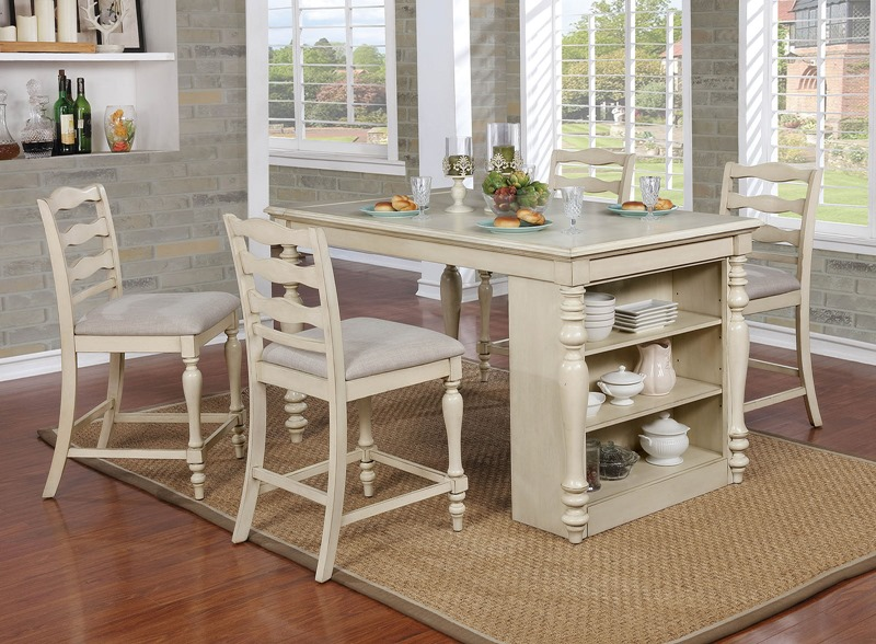 Furniture of America | CM3912PT Theresa Counter Height Dining Room Set |  Dallas Designer Furniture