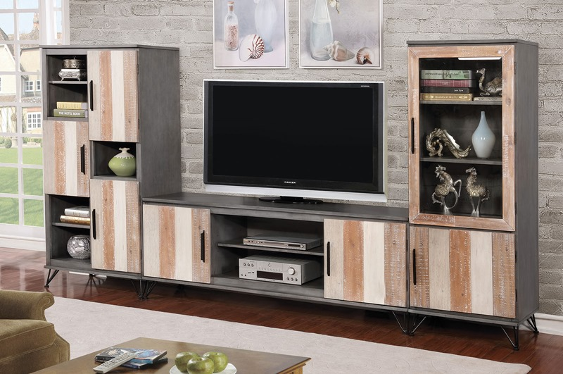 Binche Entertainment Center in Gray