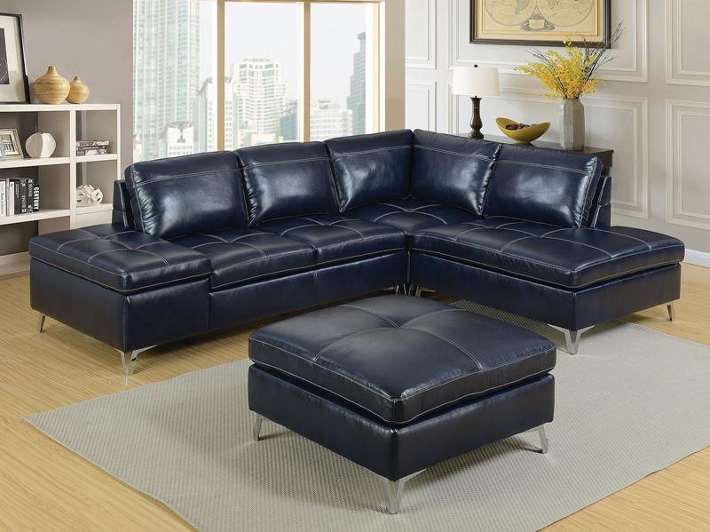 Sadie Navy Sectional Sofa