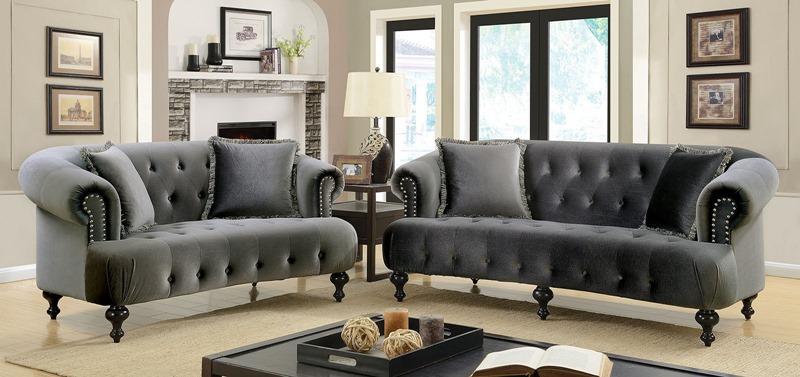 Rayne Living Room Set in Gray