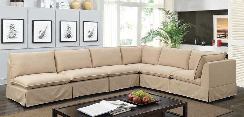 Furniture of America | CM6206 Joelle 6-Seat Sectional Sofa | Dallas  Designer Furniture
