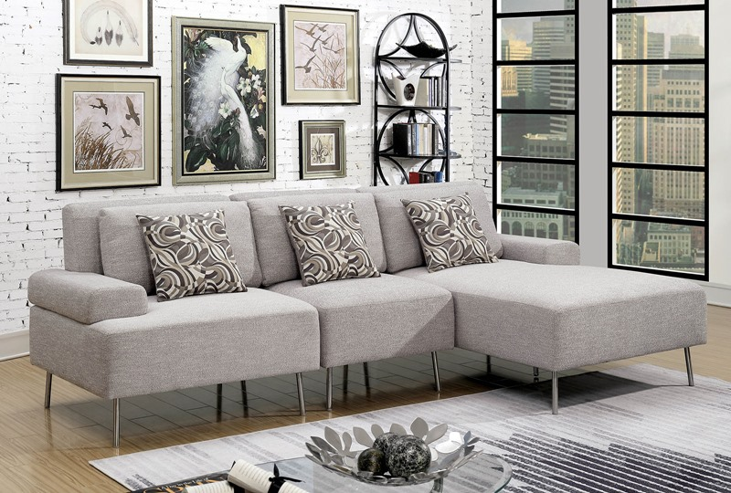 Furniture of America | CM6341 Bryn L-Shaped Sectional Sofa | Dallas  Designer Furniture