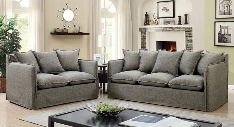 Rosanna Living Room Set in Gray