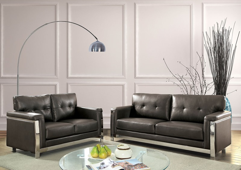 Nanette Living Room Set in Gray