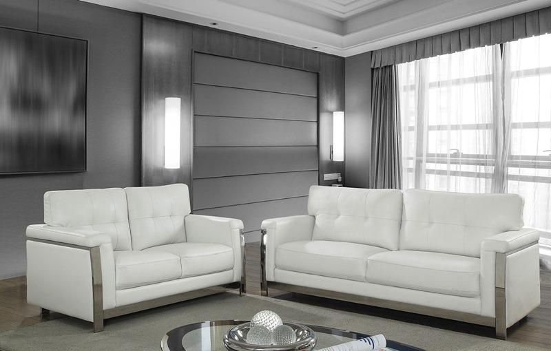 Nanette Living Room Set in White