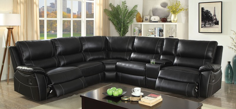 Furniture of America | CM6439 Nena Leather Reclining Sectional Sofa |  Dallas Designer Furniture