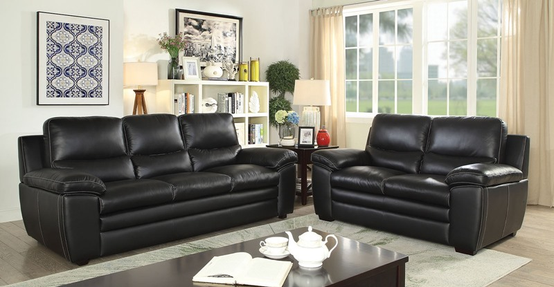 Mirielle Leather Living Room Set