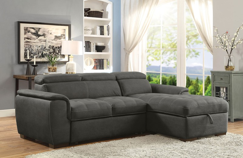 Patty Sectional Sofa in Graphite