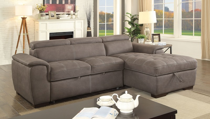 Patty Sectional Sofa in Ash Brown