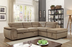 Felicity Sectional Sofa in Mocha