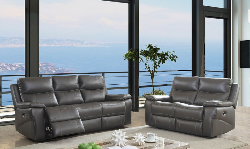 Lila Leather Reclining Living Room Set