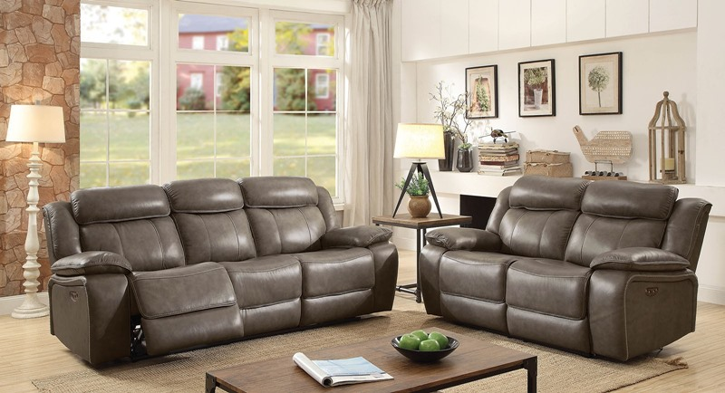 Page Leather Reclining Living Room Set