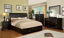 Enrico III Bedroom Set with Storage Drawers in Espresso