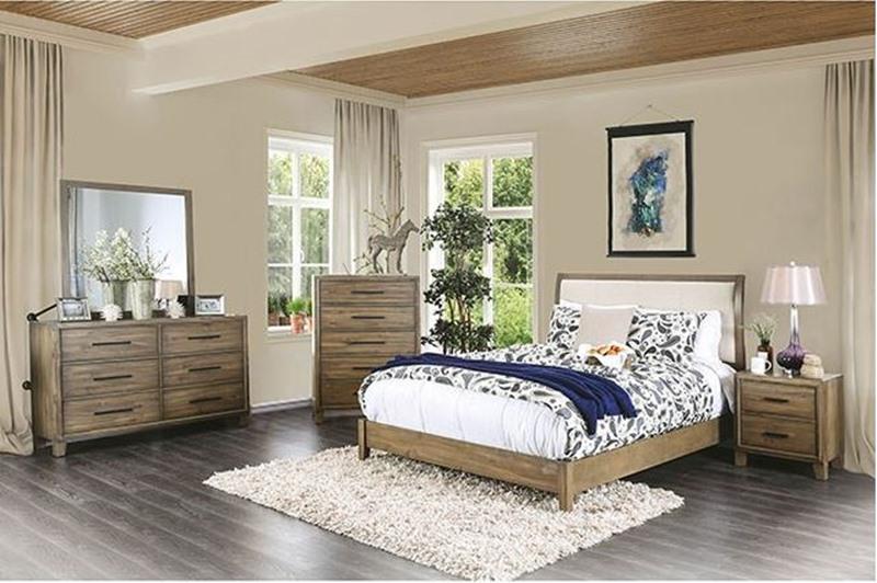 Enrico I Bedroom Set in Light Oak