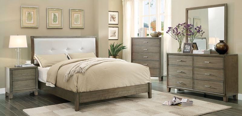 Enrico I Bedroom Set in Gray