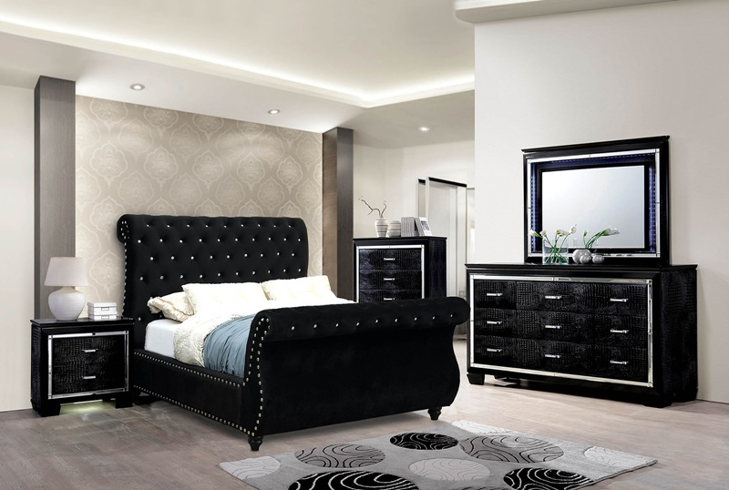 Noella Bedroom Set in Black