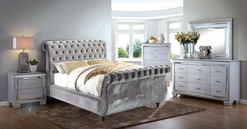 Noella Bedroom Set in Gray