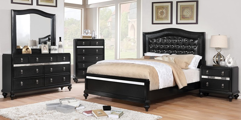 Ariston Bedroom Set in Black