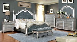 Azha Bedroom Set in Silver