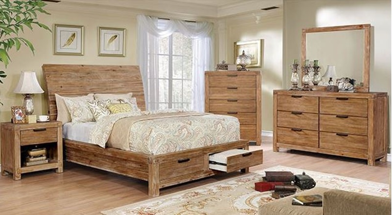 Dion Bedroom Set with Storage Drawers