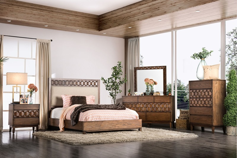 Kallisto Bedroom Set with Upholstered Headboard