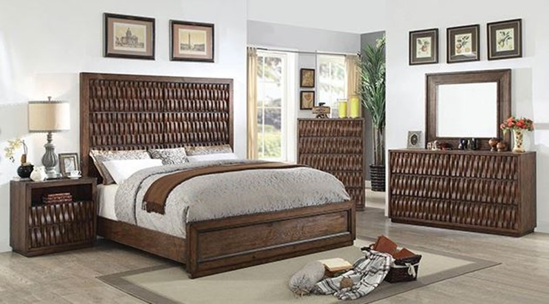 Dallas designer furniture oleta bedroom set in buttermilk for Furniture of america dallas texas