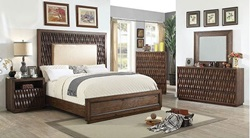 Eutropia Bedroom Set with Upholstered Headboard