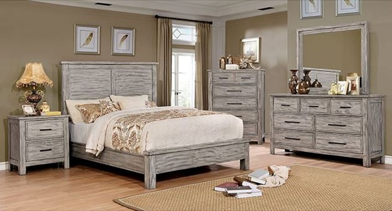 Canopus Bedroom Set in Antique Gray