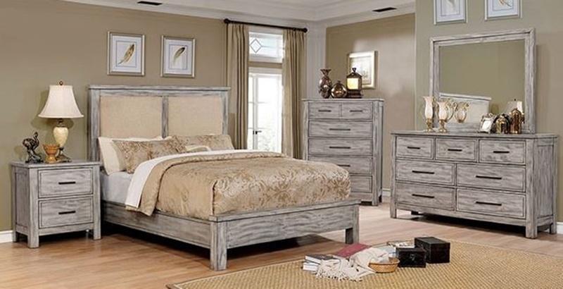 Canopus Bedroom Set in Antique Gray