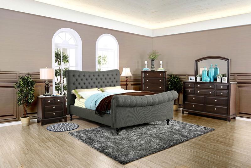 Galene Bedroom Set in Gray